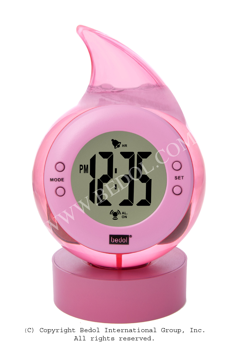Alarm The Bedol Water Clock Pink